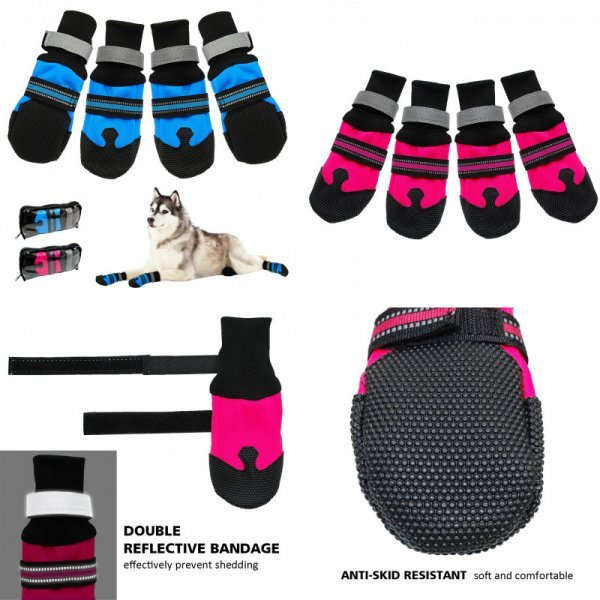 Ботиночки для крупных пород собак (4 размера, 2 цвета)