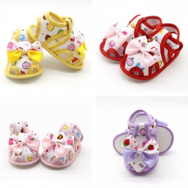 Летние сандали-пинетки с пробковой подошвой (4 цвета, 3 размера)
