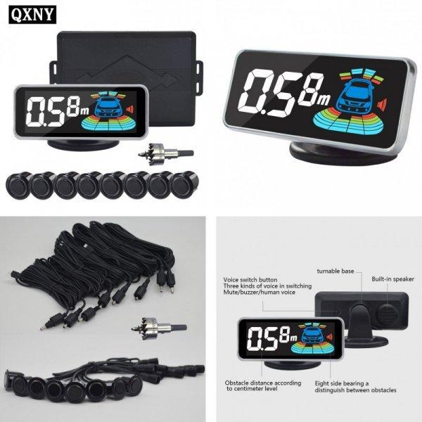 Парктроник автомобильный QXNY (8 датчиков+дисплей)