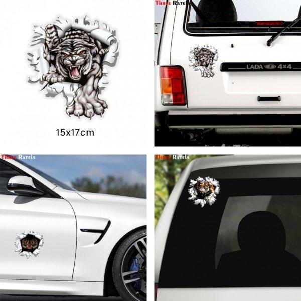 Наклейка на авто Тигр (2 вида)
