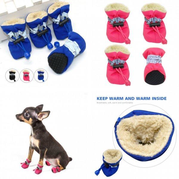 Теплые ботинки для собак  (3 размера, 3 цвета)