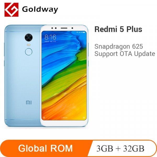 """Смартфон Xiaomi Redmi 5 +  (5,99 """", 3 ГБ FHD Full 18:9 625 Octa core 4 г LTE )"""