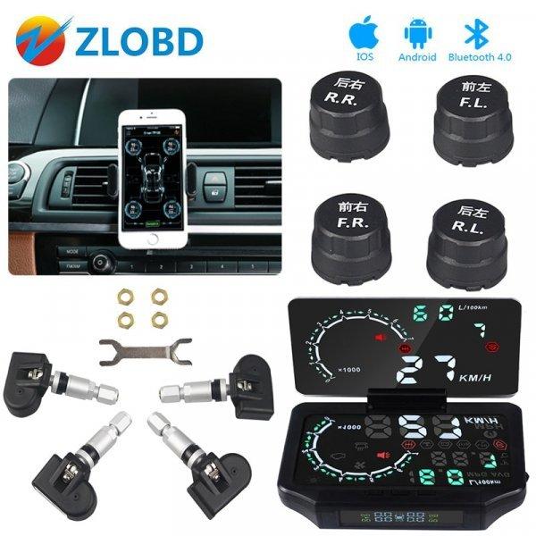 Сенсорный монитор и датчики давления шин ZOLIZDA (Blluetooth 4,0 )