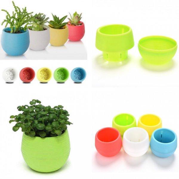 Пластиковый горшок для цветов BESTIM INCUK (5 цветов)