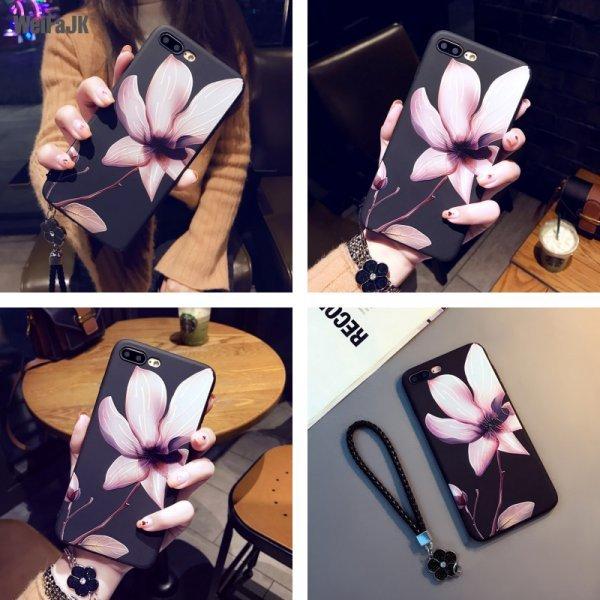 Матовый чехол на телефон iPhone 6 6s 7 Plus 8 Plus X (15 видов)