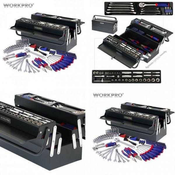 Набор инструментов WORKPRO с ящиком для хранения - мечта ремонтника (183 шт)