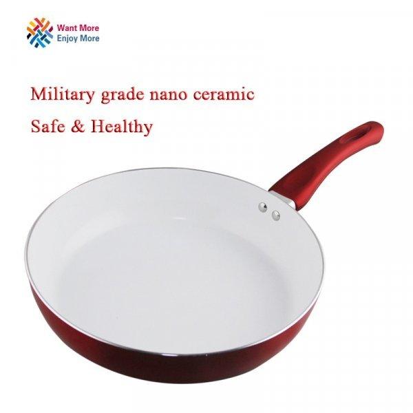Шикарная керамическая сковородка Youe shone (3 цвета, 22 см и 26 см)