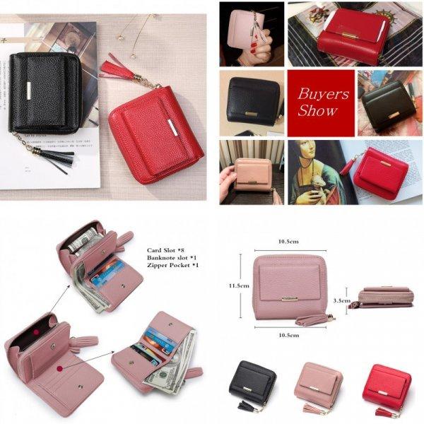 Стильный кошелек для женщин BISON DENIM (3 цвета, кожа)