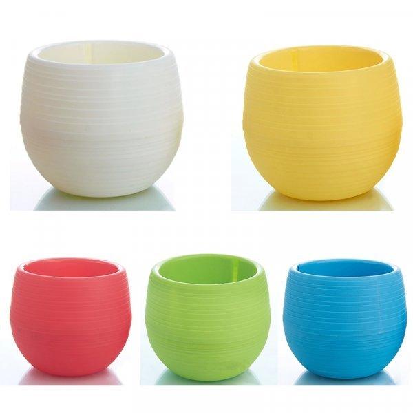 Яркий керамический горшок для цветов  (5 цветов, 5*5 см)
