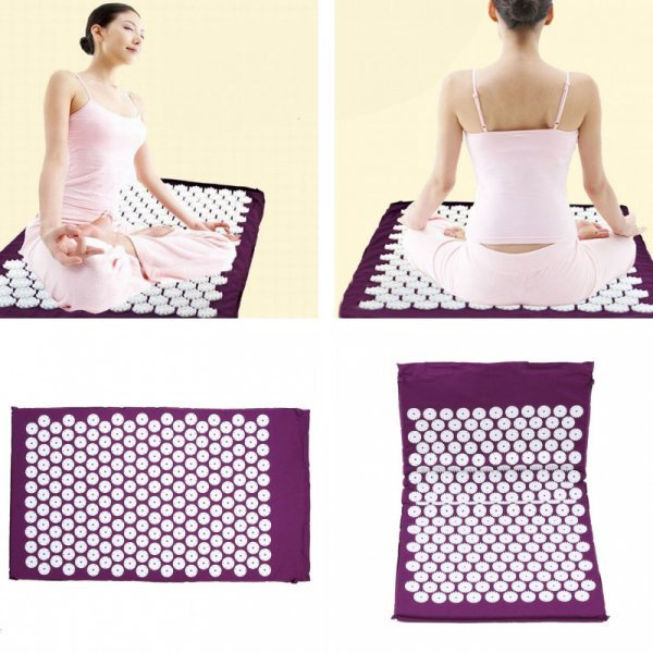 Массажный коврик для йоги VKTECH (735*420 мм, 6 мм)