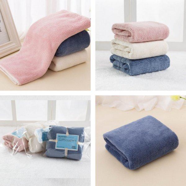 Мягкое полотенце для лица (3 цвета, 4 размера)