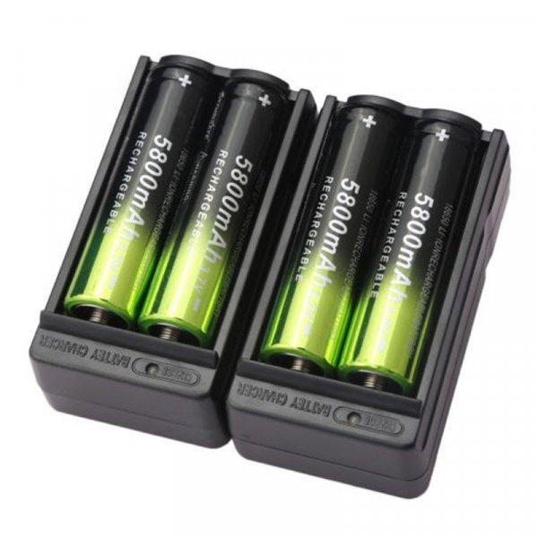 Мощные аккумуляторы с зарядкой  (4 шт)