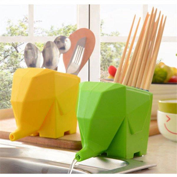 Забавная сушилка для столовых приборов и мелочей (4 цвета,  14 x 11 см)