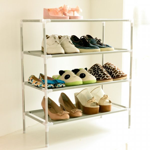 Компактный обувной стеллаж (2-6 уровней)