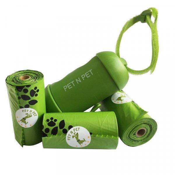 Диспенсер для сбора отходов на прогулке Pet n pet + пакеты