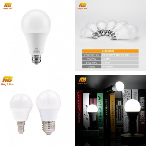 Светодиодная лампа MING&BEN Е27 E14 220В