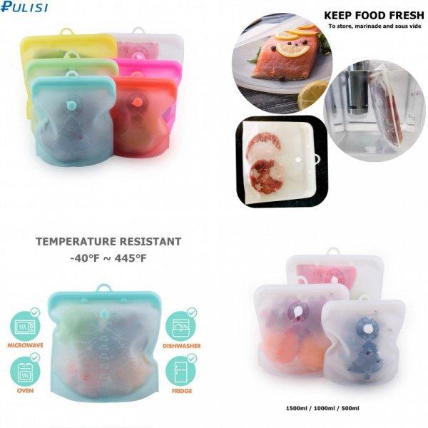 Многоразовые пакеты для продуктов PULISI (3 вида)