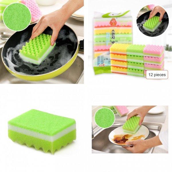 Набор губок для посуды (12 шт)