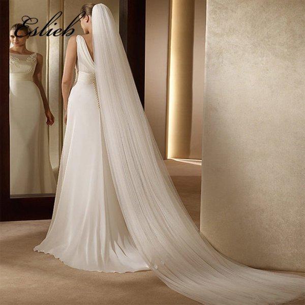 Длинная фата для прекрасной невесты Eslieb (2 цвета, 300 см)