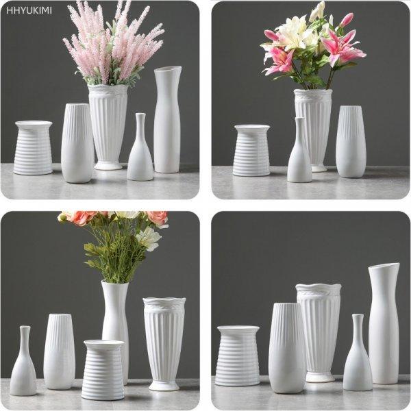 Белоснежная ваза Hhyukimi  (керамика)