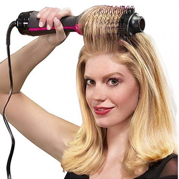 Фен-расческа для волос CHJPRO 2 в 1