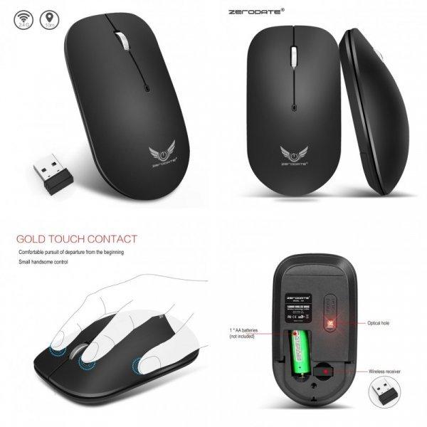 Универсальная Мышь Zerodate T20 для игры и работы (1600 Точек)