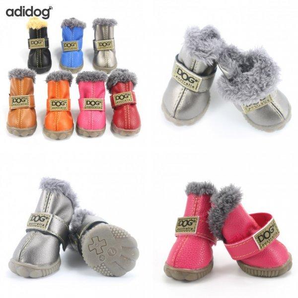 Утепленные ботиночки для собак на зиму (4 шт, 5 размеров, 11 цветов)