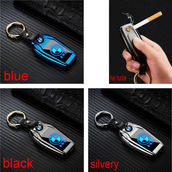 Модная USB-зажигалка-брелок (10 цветов)