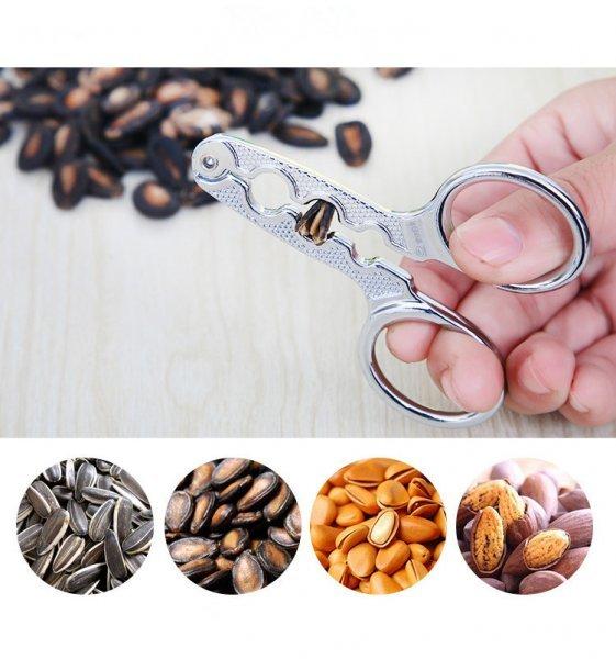 Хитрые щипцы для колки семечек, миндаля Mingrizhiguang home (сталь, 9*5.5 см)
