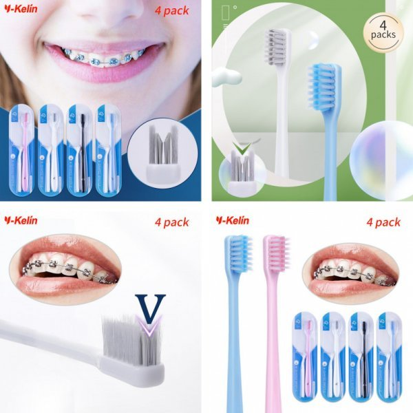 Зубная щетка для брекетов Y-kelin (2, 4, 8, 12 шт)