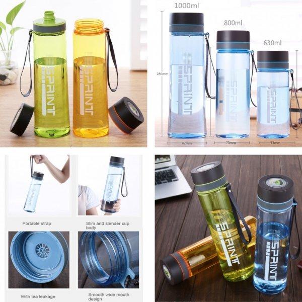 Бутылка для воды (3 объёма, 4 цвета)