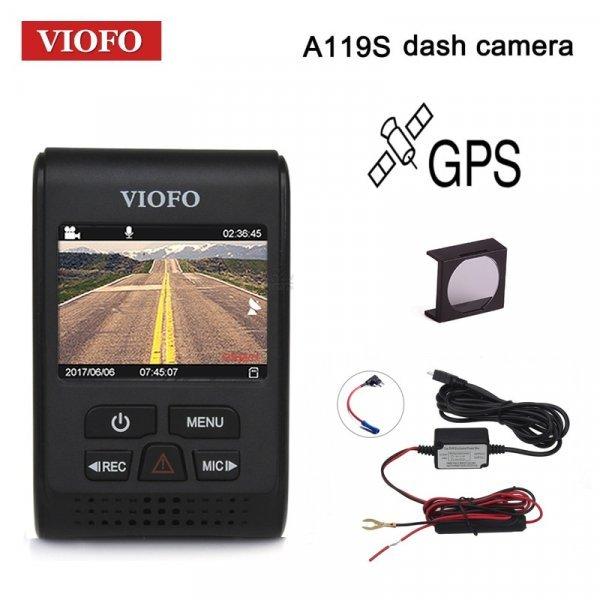 """Отличный видеорегистратор Viofo  А119s  V2 2.0 """" HD 1080 P GPS 140°"""