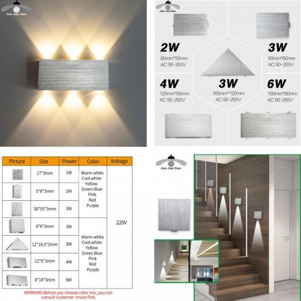 Модный светильник для спальни (5 форм, 1,2, 3 лампы)