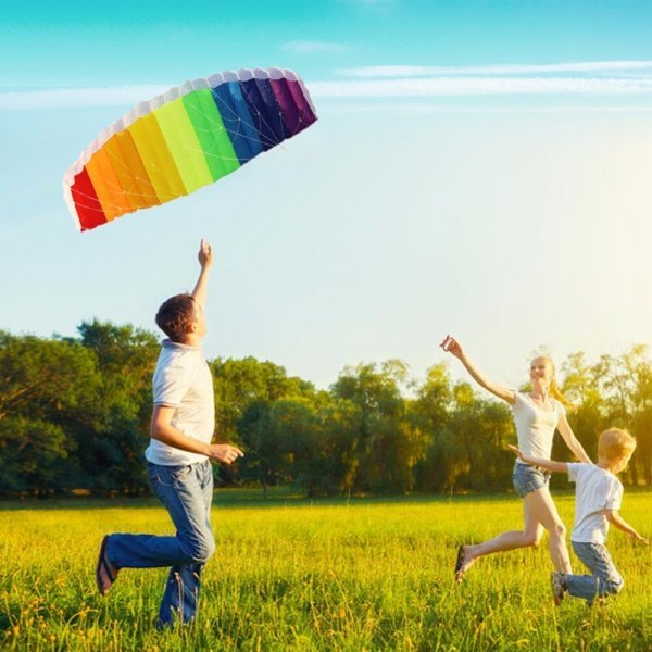 Радужный воздушный кайт как парашют (30 м)