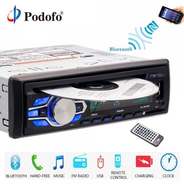 Автомагнитола Podofo с Bluetooth (1 din)
