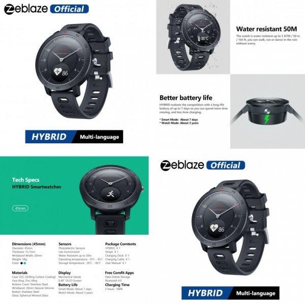 Смарт часы Zeblaze Hybrid Smartwatch
