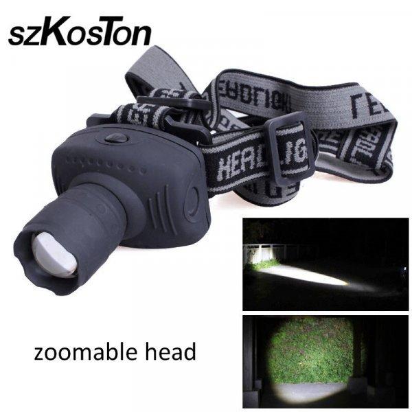 Налобный фонарик SZKOSTON с зумом