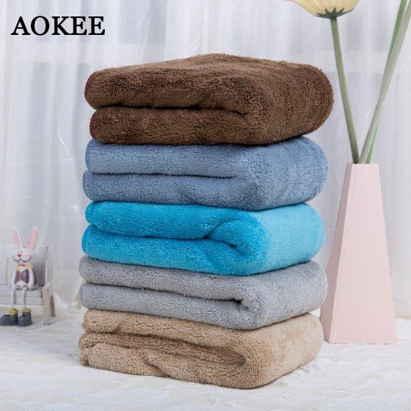 Мягкое мужское полотенце для ванной AOKEE (5 цветов, 75*150 см)