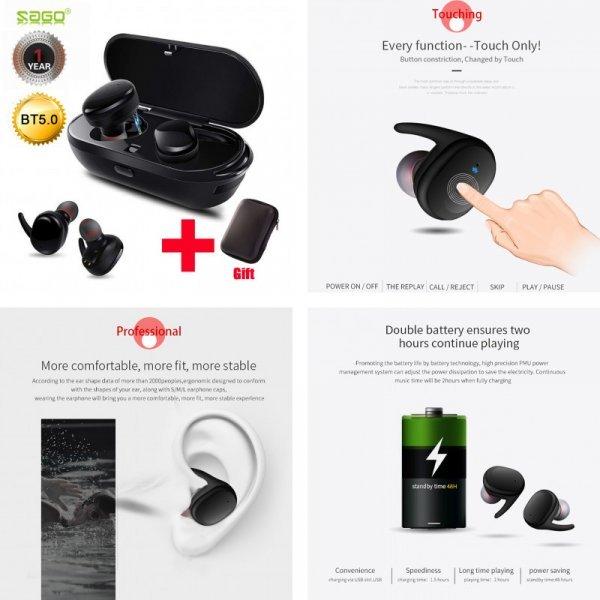 Чумовые беспроводные наушники Саго S9100  для iphone8, Xiaomi