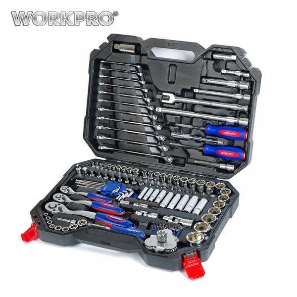 Набор инструментов для ремонта авто WORKPRO (123 шт)