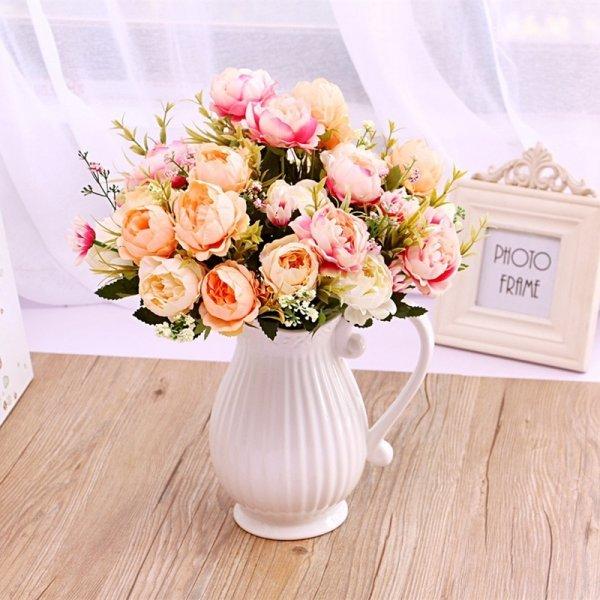 Керамическая ваза с ручкой для любителей классики (3 цвета)