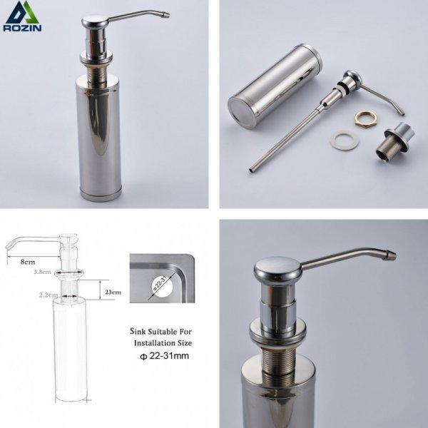 Встрой дозатор для мыла Rozin в раковину (290*90 мм)