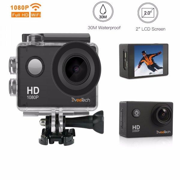 "Компактная экшн камера Dveetech Wi-Fi 1080 P Full HD 2"" отлично снимает"
