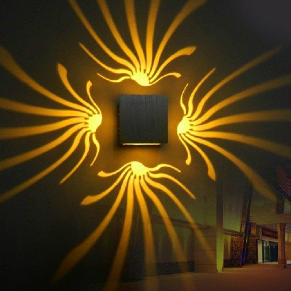 Интерьерный LED светильник для прихожей Tanbaby (8 цветов, 80*80*80 мм, 3 Вт)