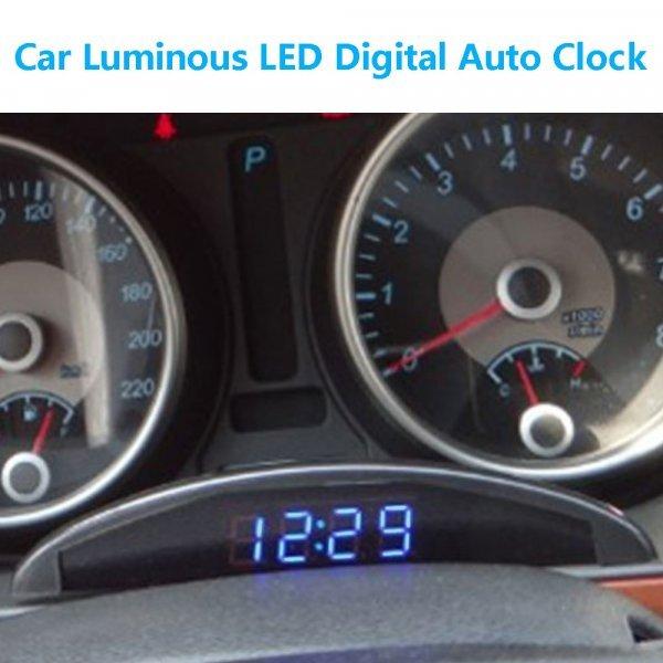 Часы для авто с ЖК-дисплеем VODOOL