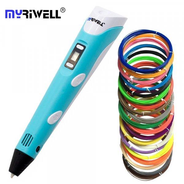 3д ручка Myriwell с набором пластика (8 вариантов)