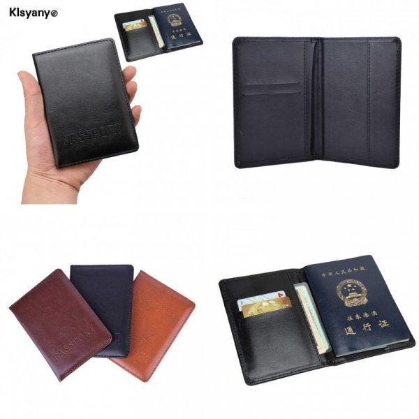 Практичная обложка на паспорт с карманом для карт Klsyanyo (нат.кожа, 3 цвета, 14*10 см)