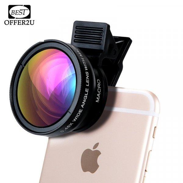Крутой широкоформатный объектив Almxm для iPhone (4 5 SE 6 7 Plus)