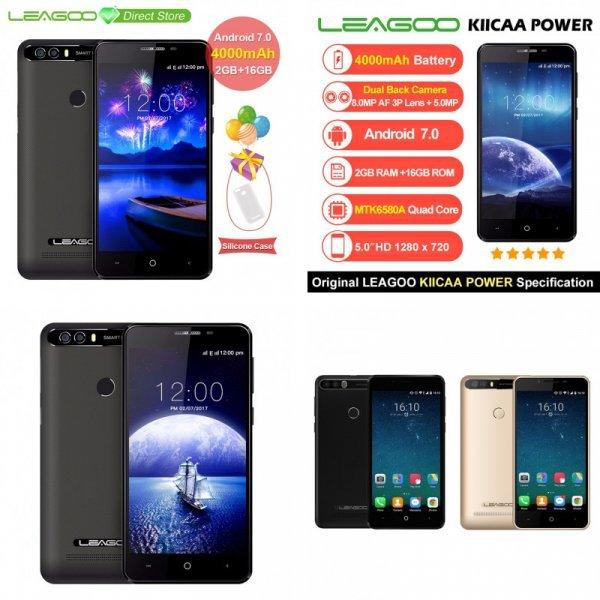 """Большой смартфон LEAGOO KIICAA POWER Android 7.0 2 ГБ 8MP 5"""""""