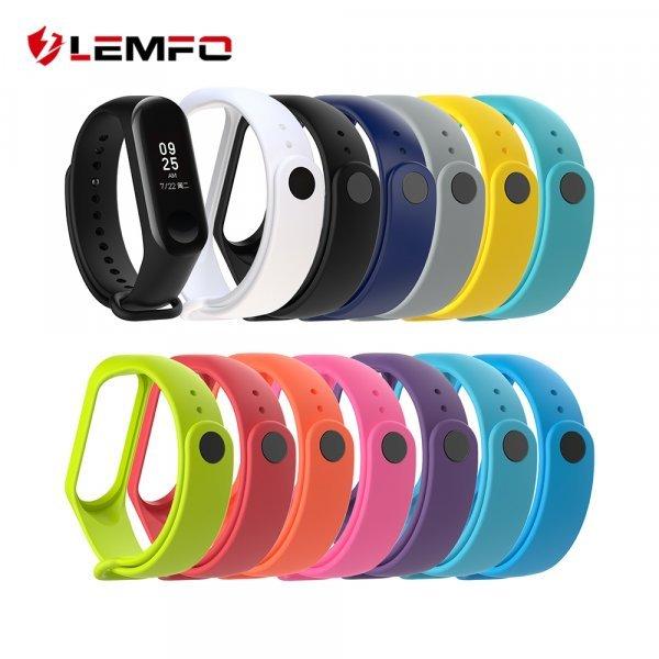 Яркие запасные ремешки  для фитнес браслетов LEMFO (10 цветов, для  XIAOMI MI band 3)